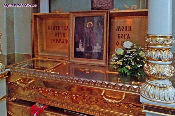 Мощи святителя Германа в храме Богоматери Всех Скорбящих Радость, Свияжск