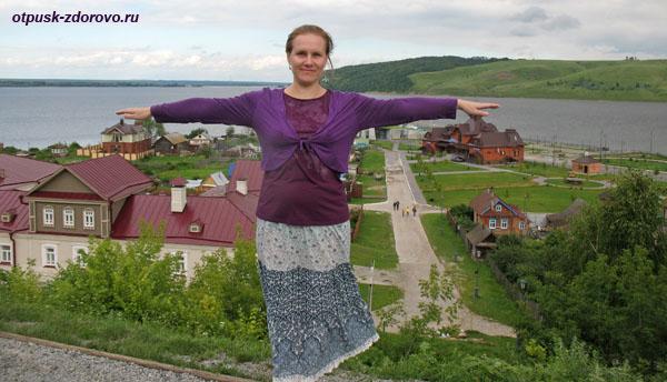 На смотровой площадке острова Свияжск