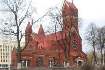 Красный костел Святых Симеона и Елены, Минск,, Беларусь